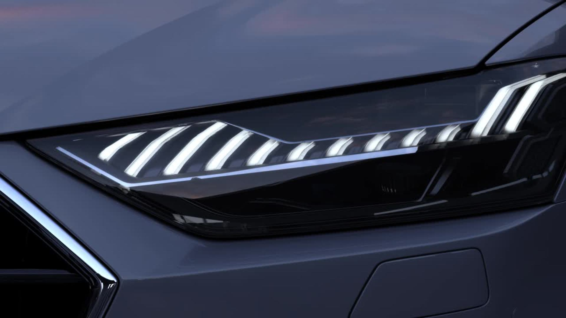 Animation Audi A7 2017 light design