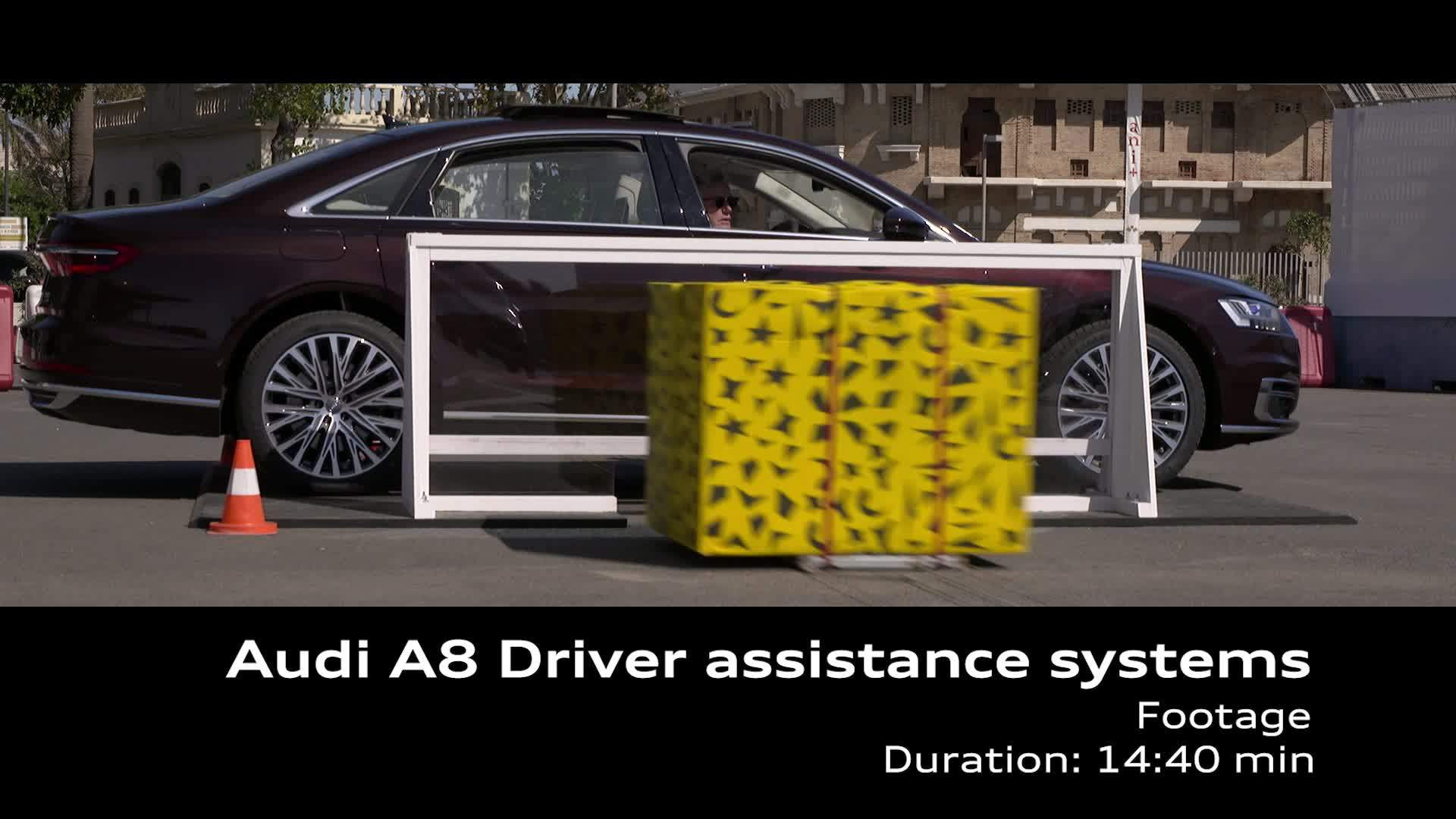 Footage Audi A8 driver assistance systems
