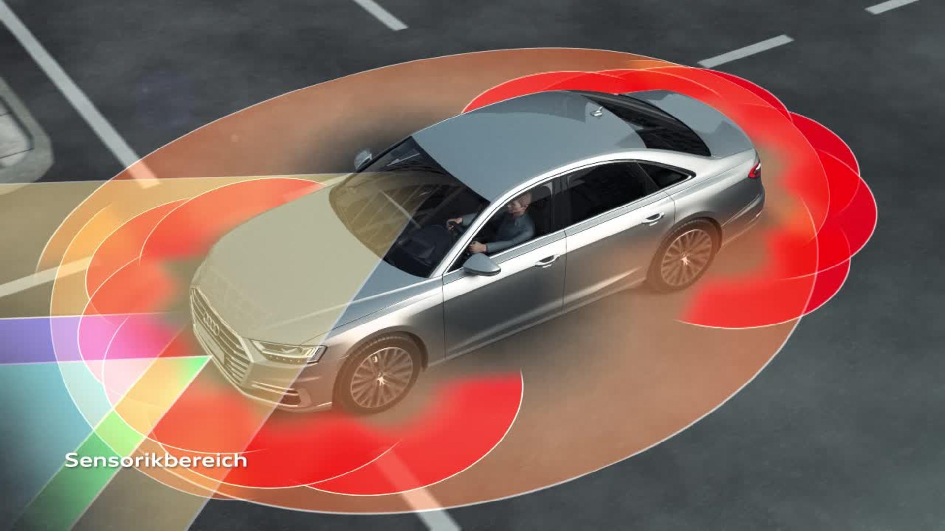Animation Audi A8 - Audi AI traffic jam pilot