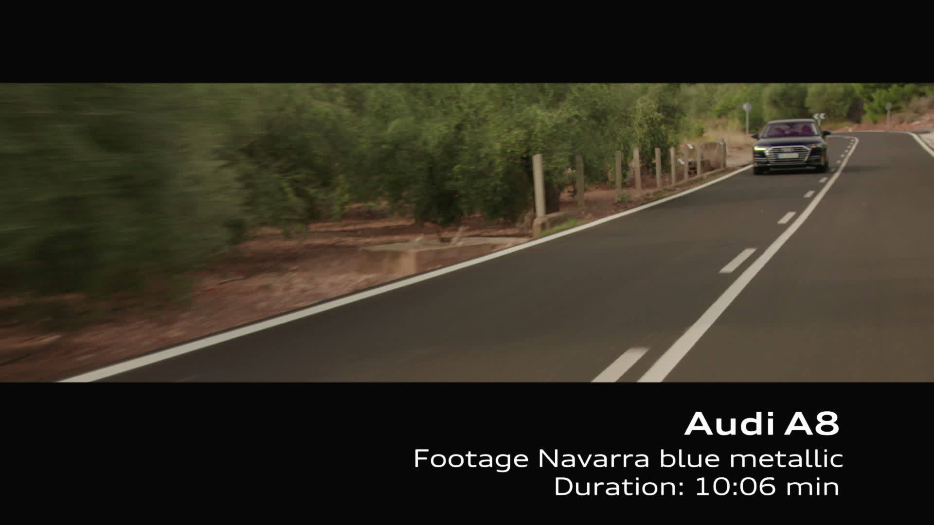 Footage Audi A8 on Location