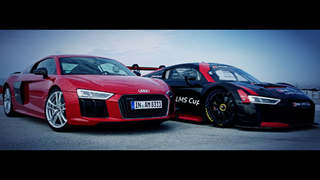 Born on the track, built for the road - Audi R8 und R8 LMS