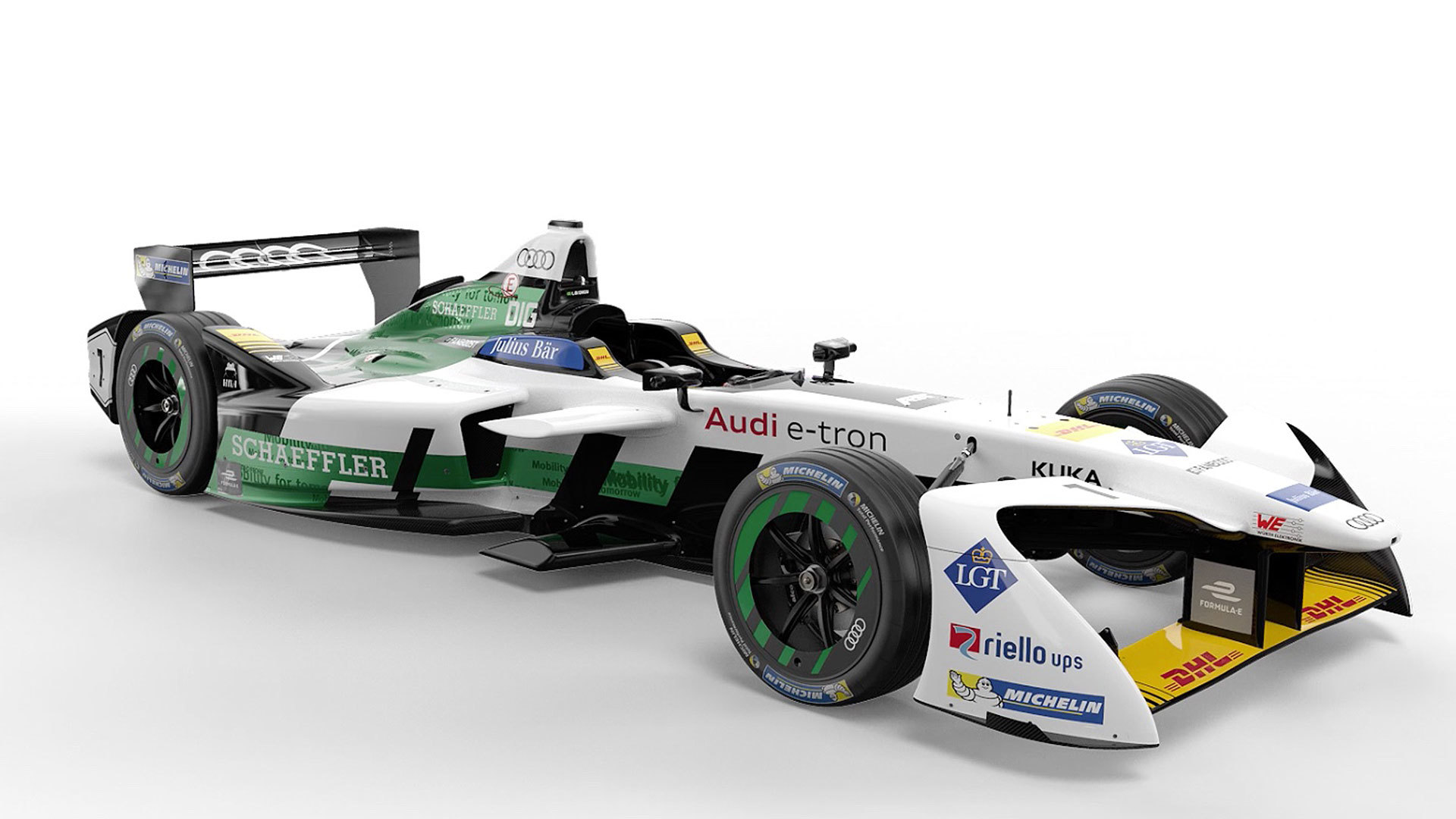 The Audi e-tron FE04 for Formula E