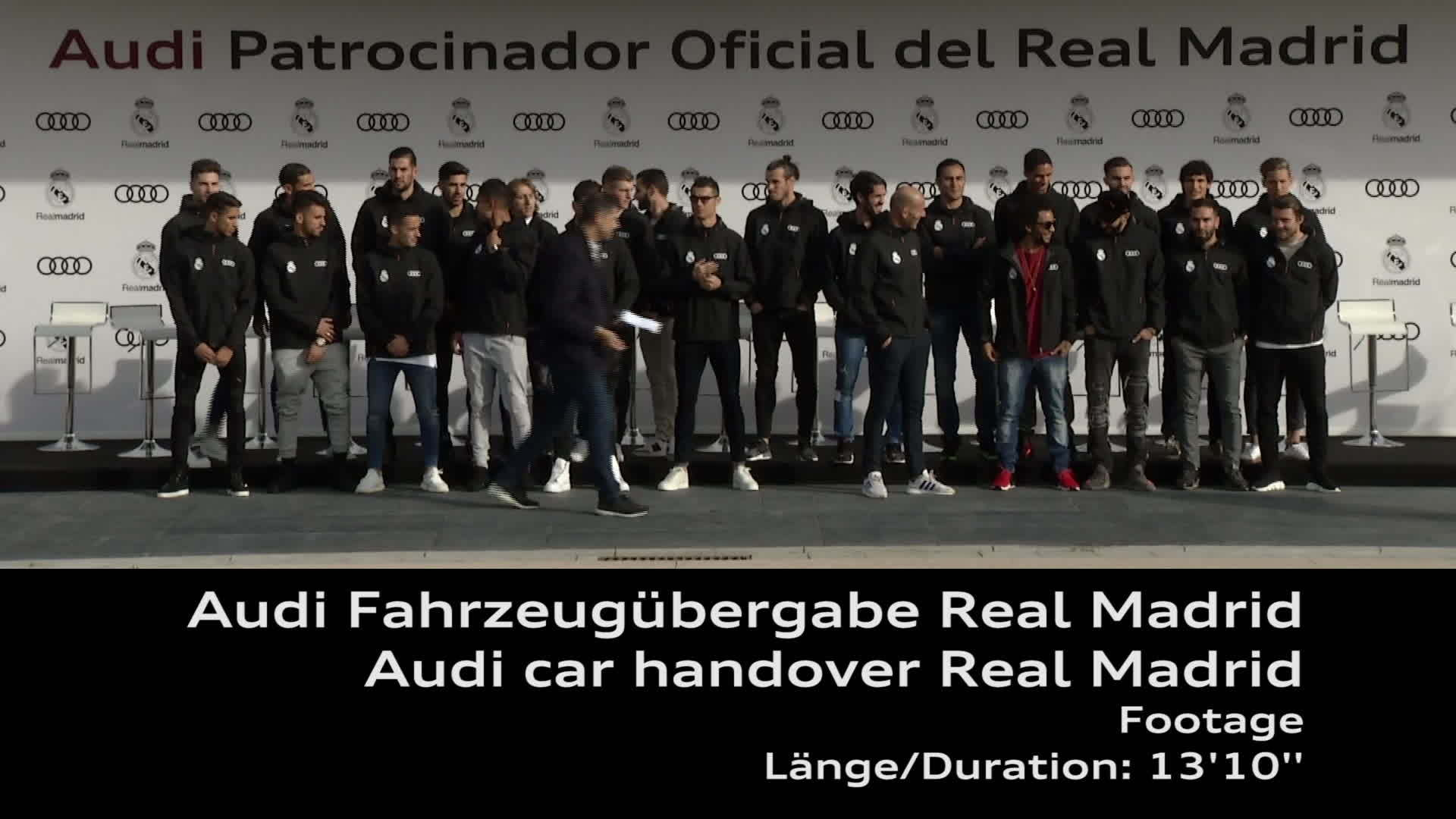 Footage Real Madrid Audi Car Handover