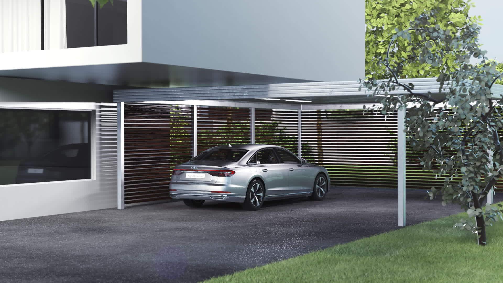 Animation Audi A8 L e-tron - Induktives Laden
