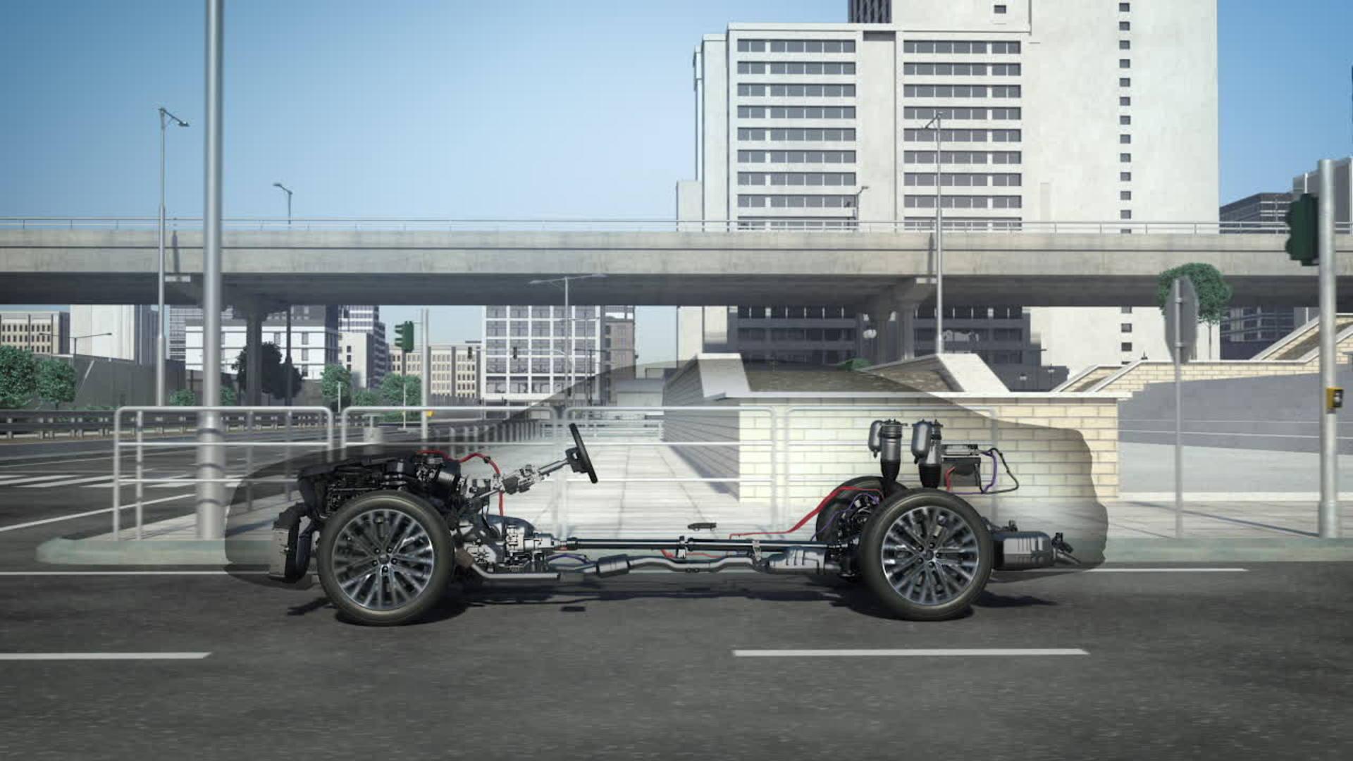 Animation: Audi A8 MHEV Aktivfahrwerk