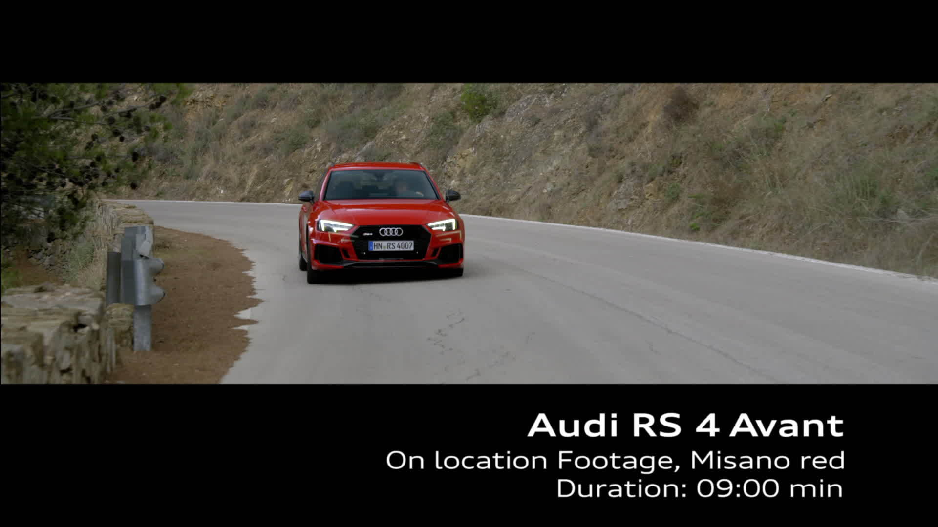 Audi RS 4 Footage on location Misano Red
