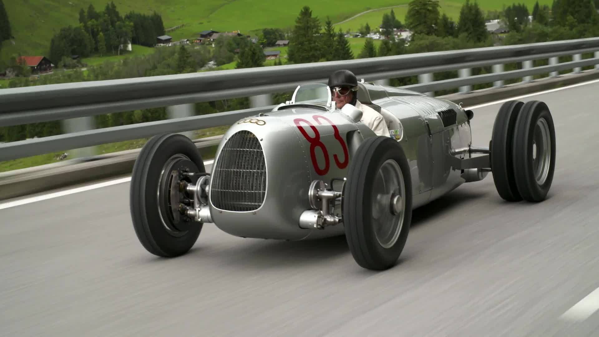 Großglockner Grand Prix 2017 with replica of the Auto Union Type C