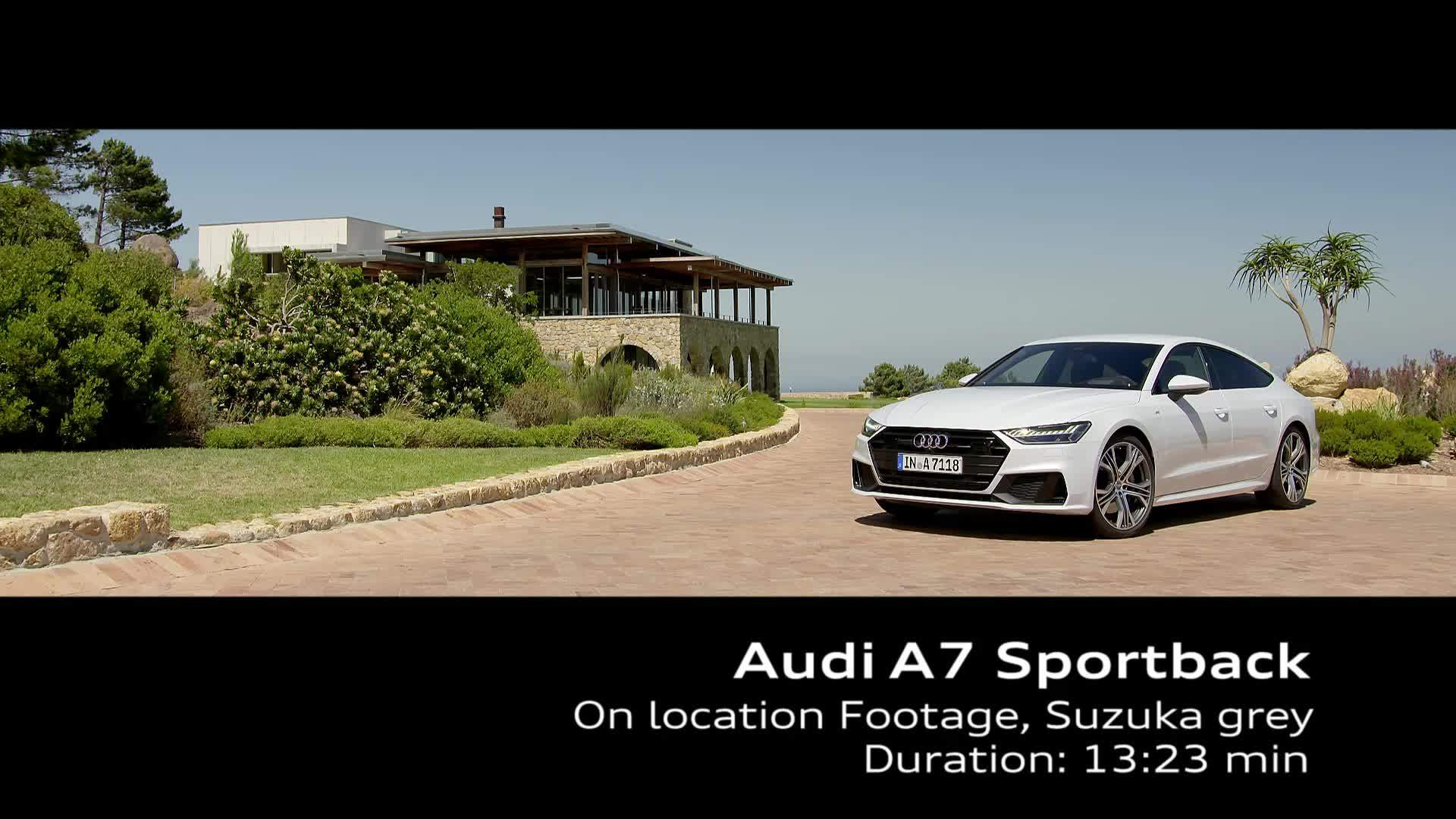 Audi A7 Sportback in Suzukagrau – on Location Footage Kapstadt