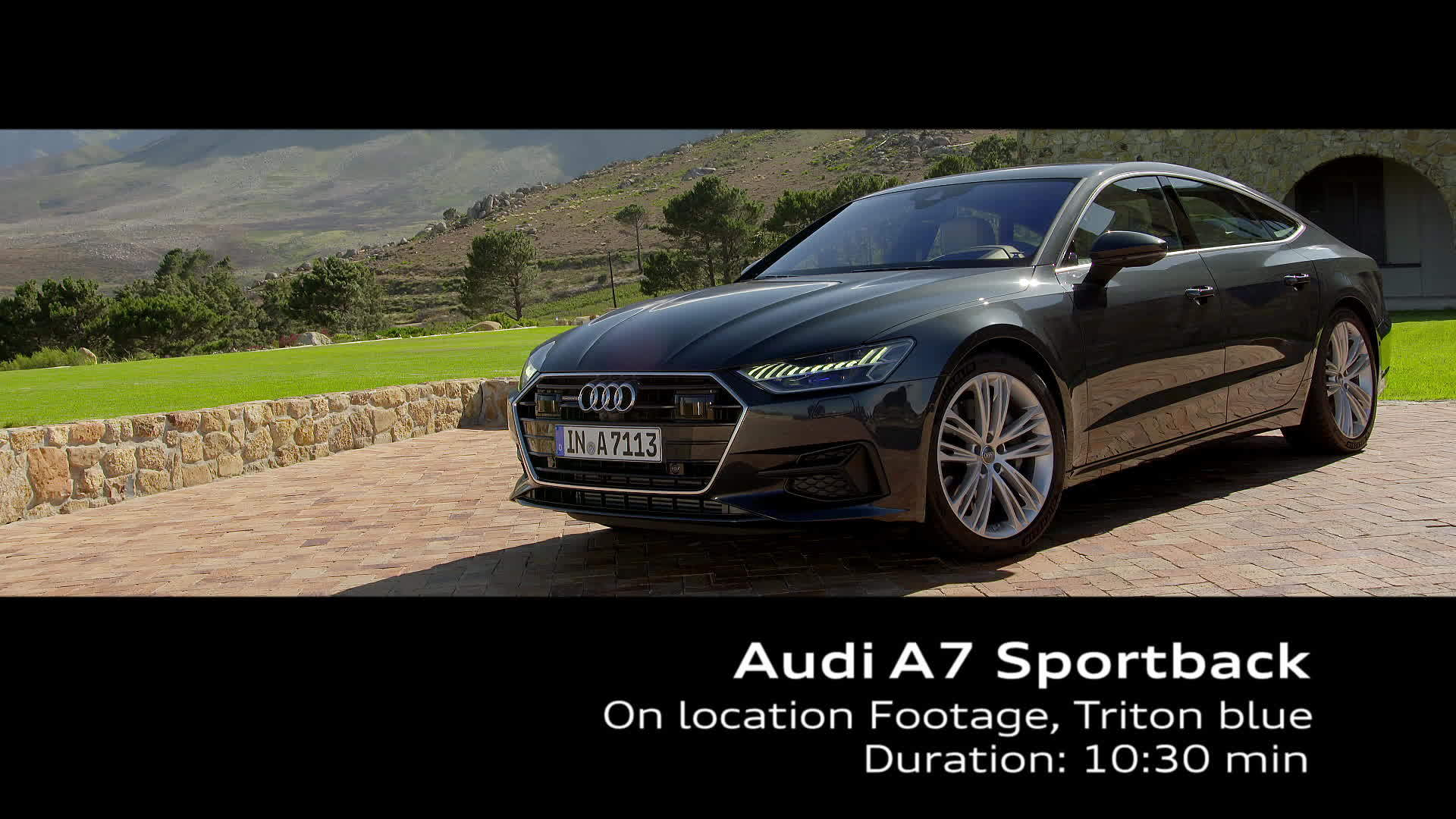 Audi A7 Sportback in Triton blue – on Location Footage Kapstadt
