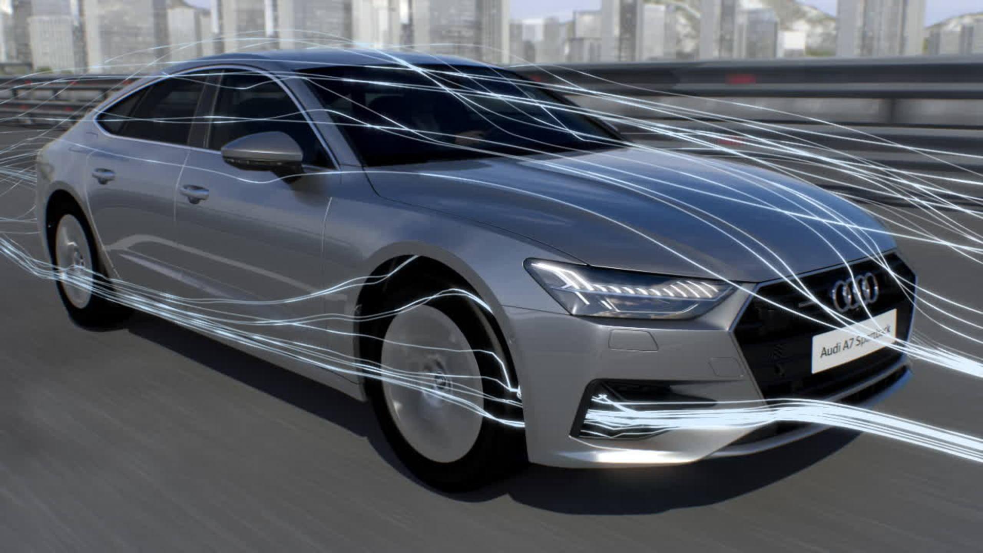 Audi A7 Animation Aerodynamik
