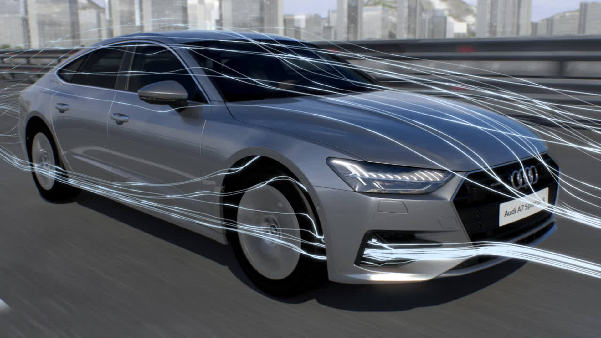 Audi A7 Animation aerodynamics