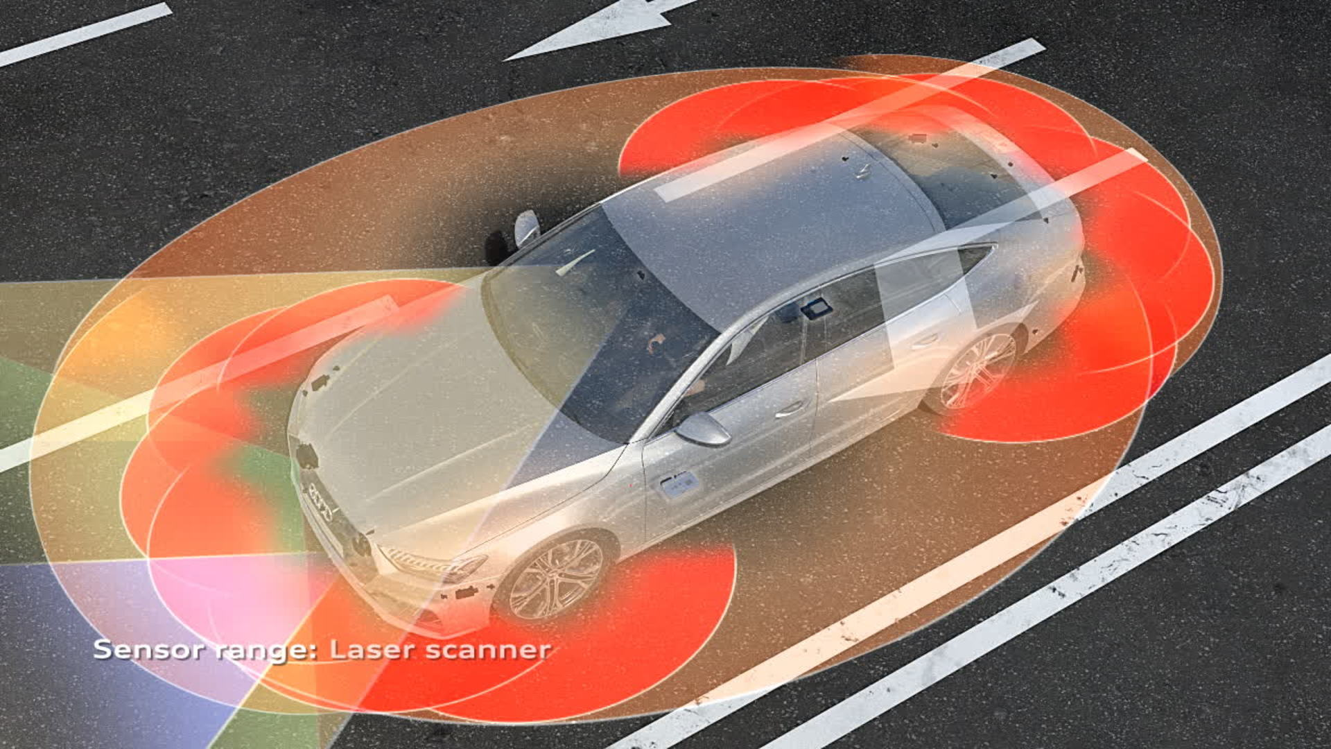 Audi A7 Animation crossing assist and turn assist