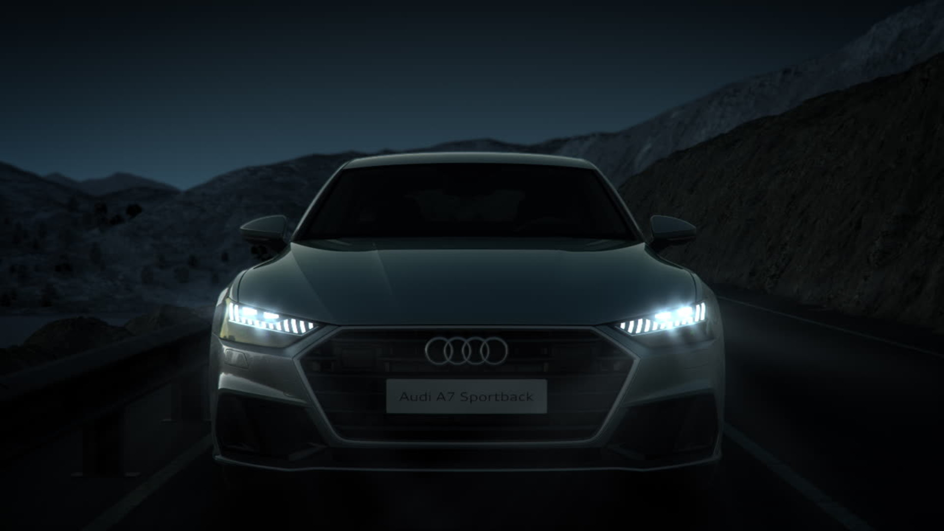 Audi A7 Animation Lichtfunktionen