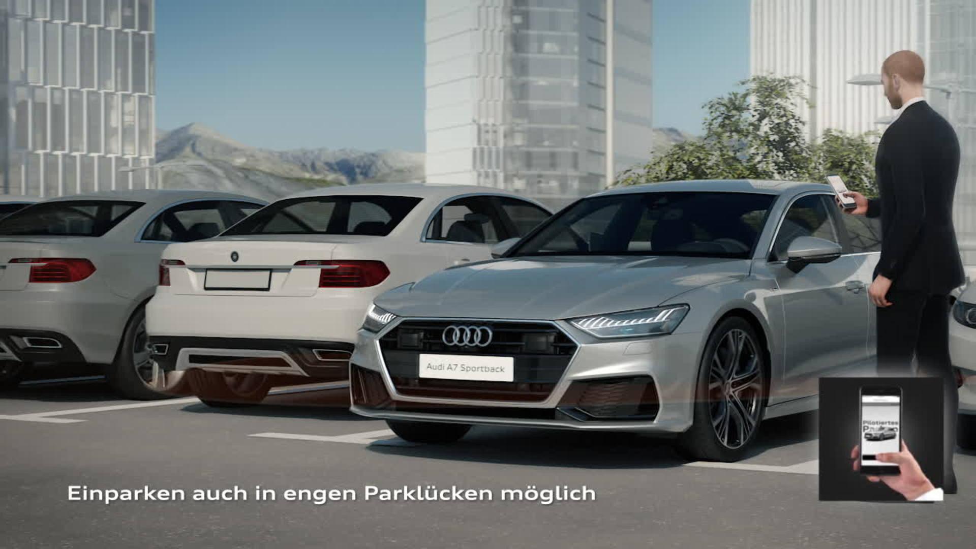 Audi A7 Animation Park-, Garagenpilot und Manövrierassistent