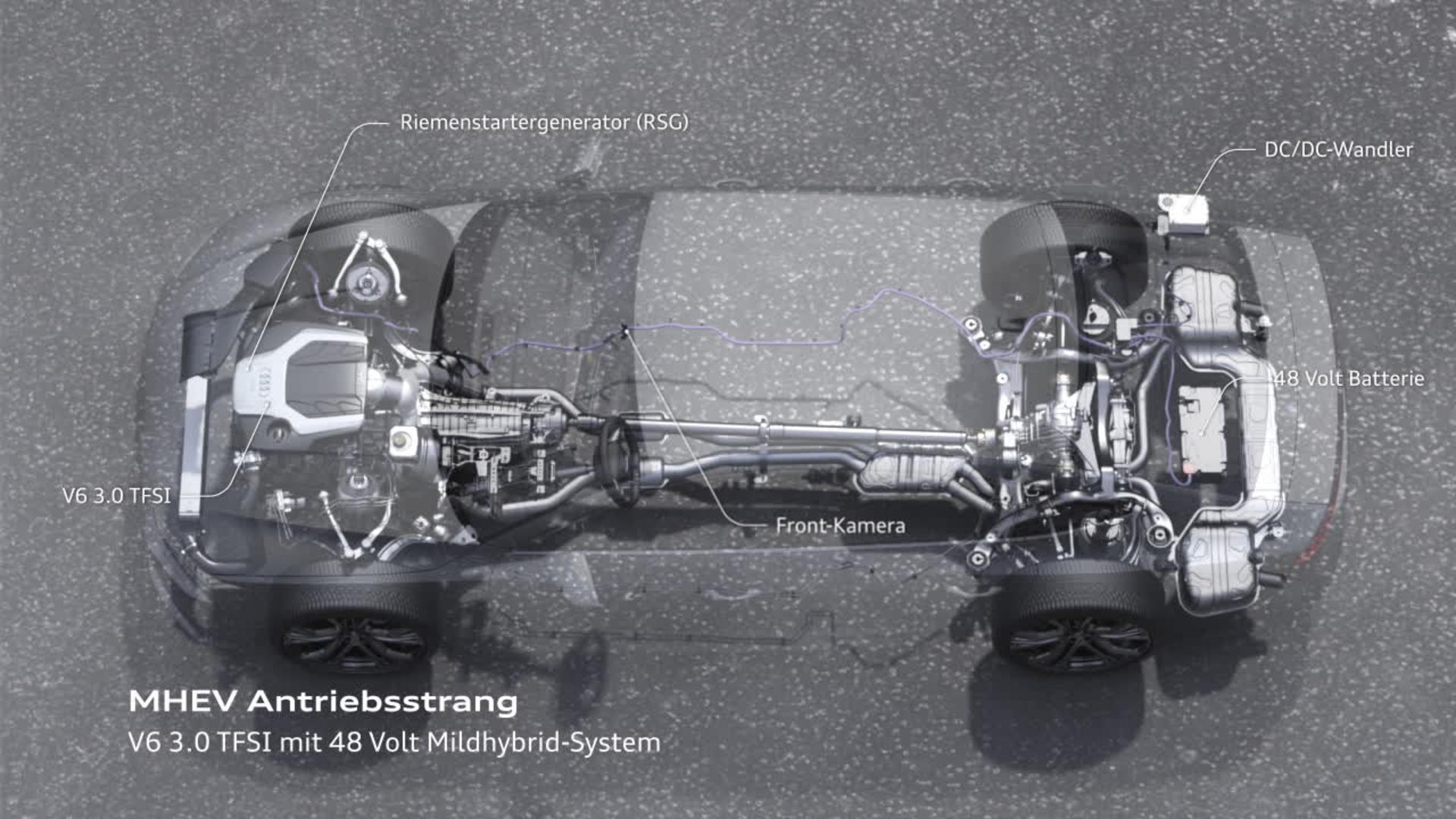 Audi A7 Animation Mildhybrid-System