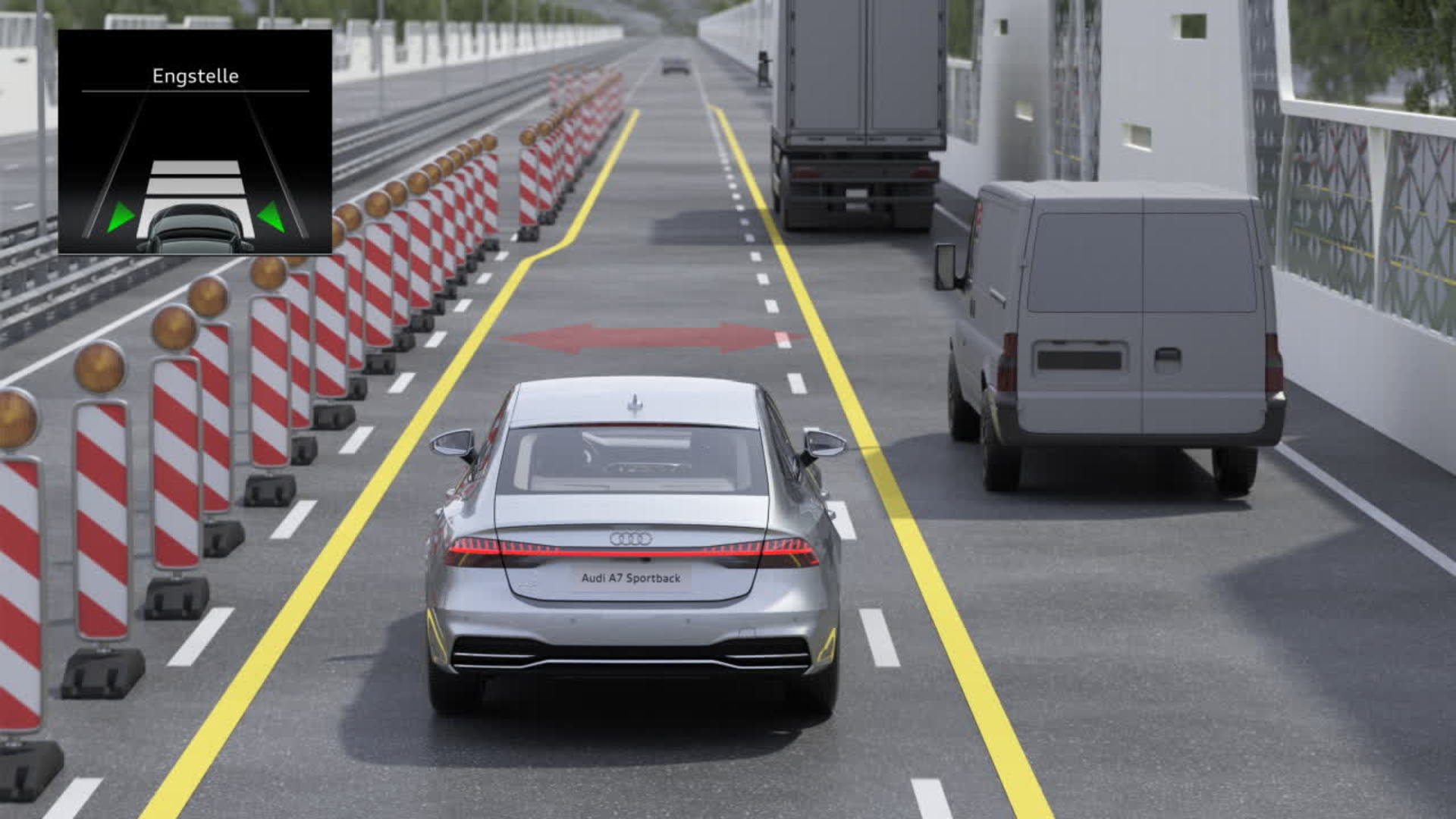 Audi A7 Animation Engstellenassistent