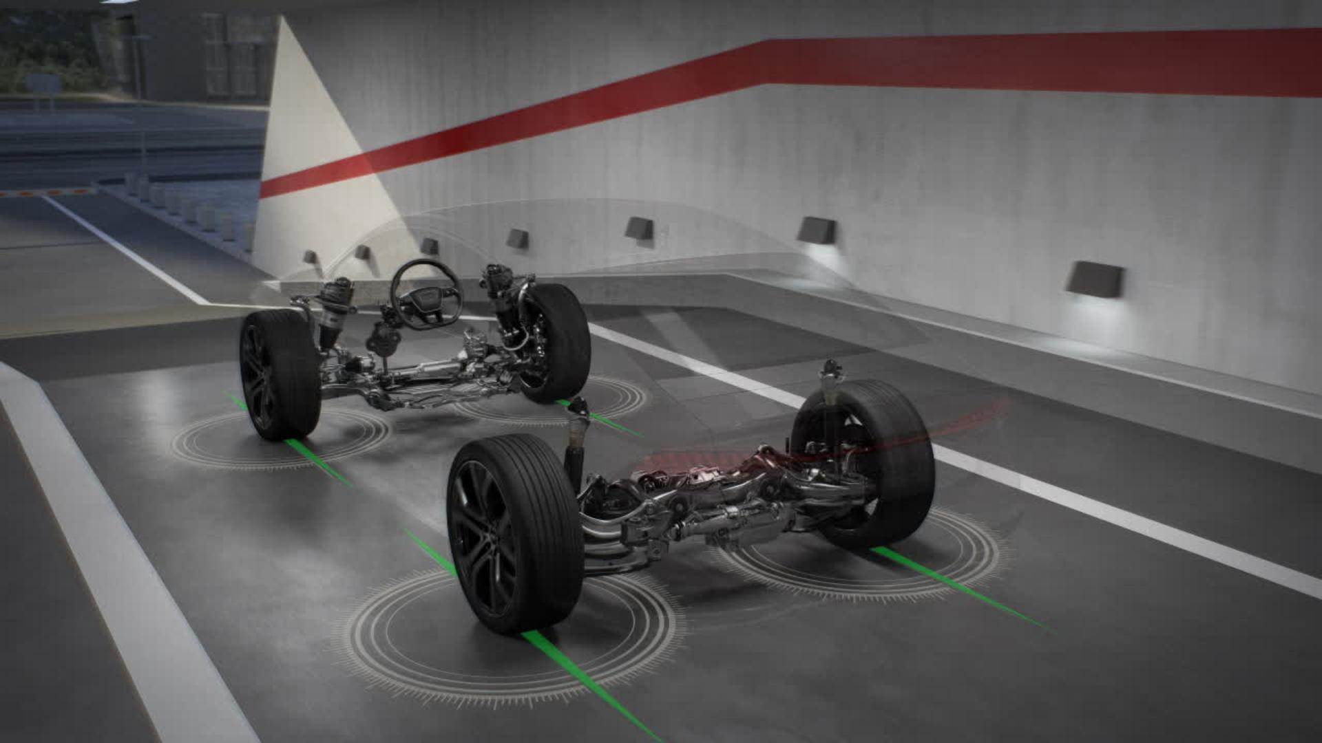 Audi A7 Animation Dynamik-Allradlenkung