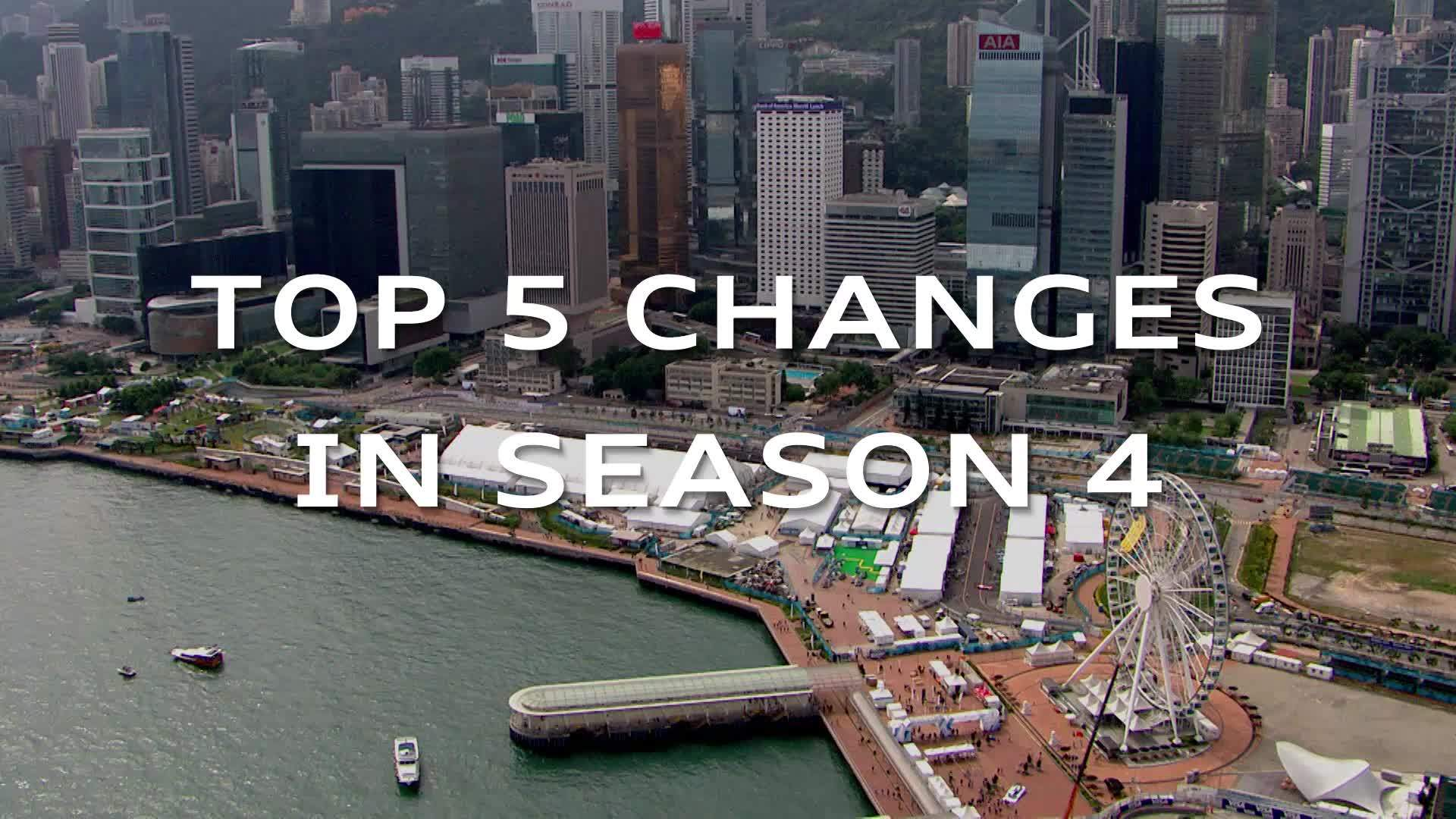 The top 5 changes in Formula E