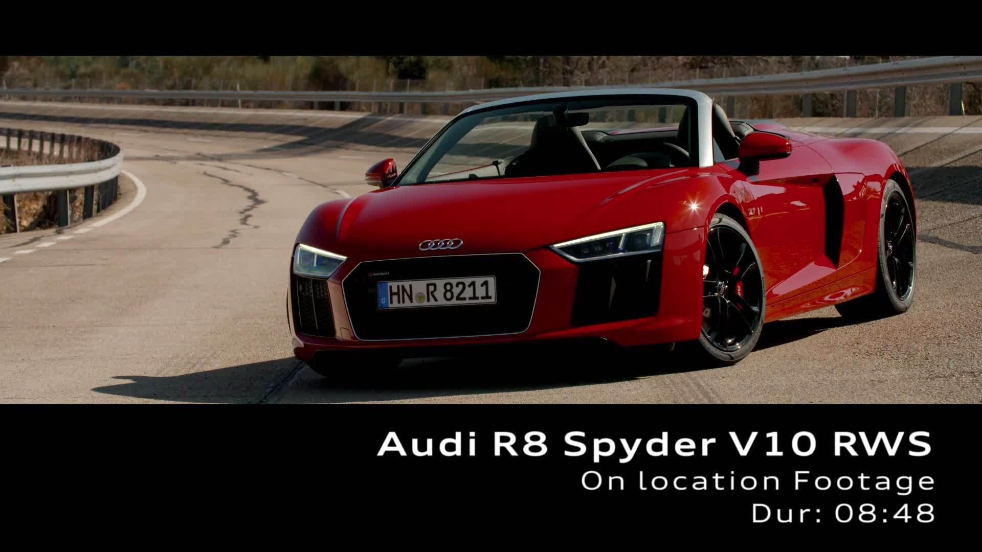 Footage Audi R8 V10 Spyder RWS