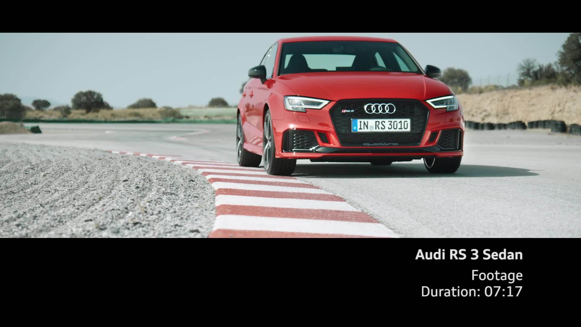 Audi RS 3 Sedan Footage