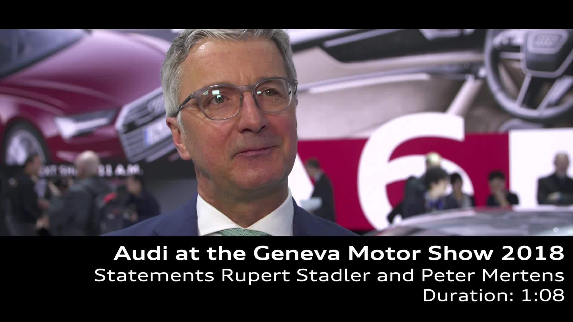 Autosalon Genf 2018: Statements Stadler und Mertens