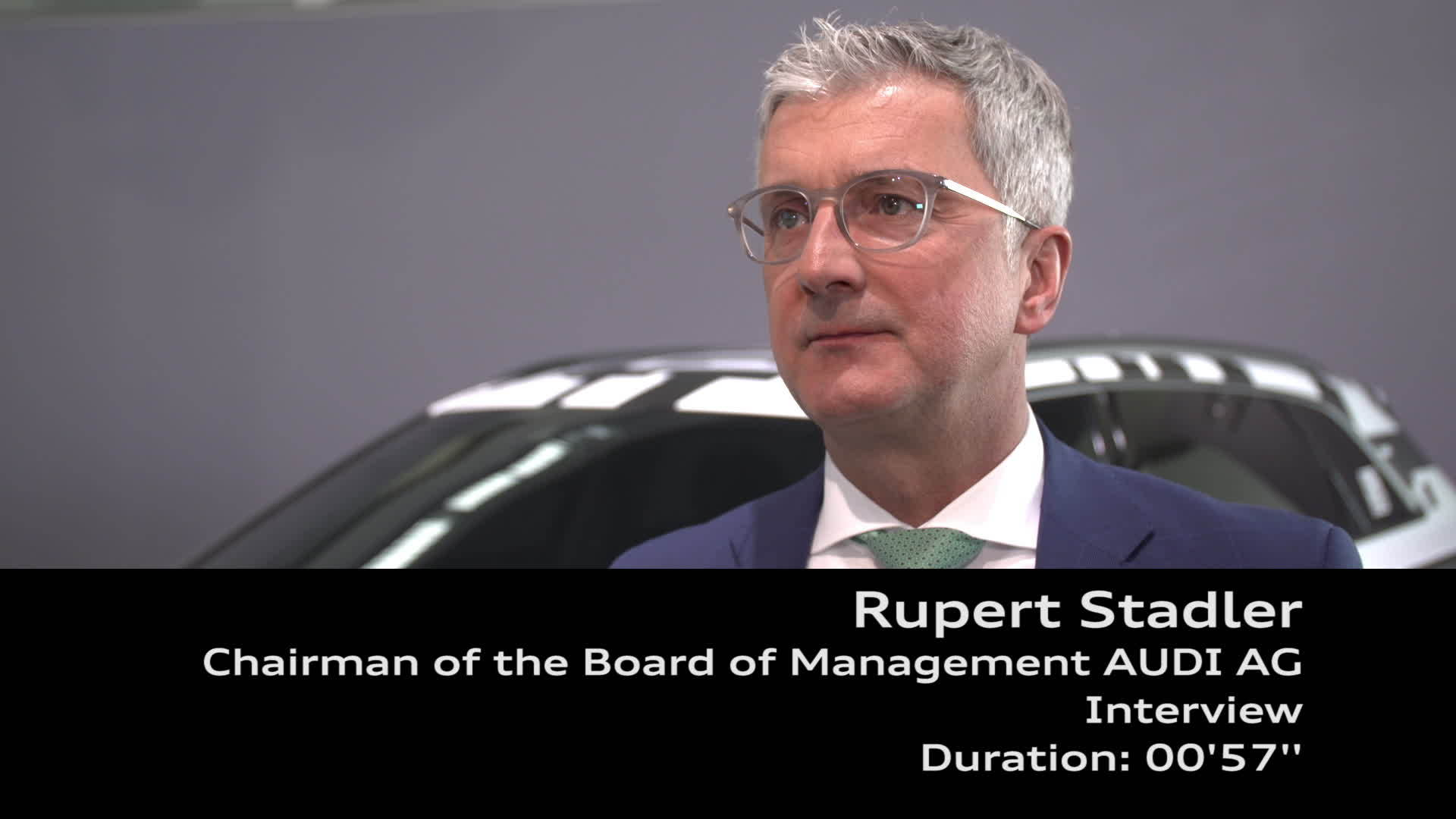 Audi Annual Press Conference 2018 Interview Rupert Stadler