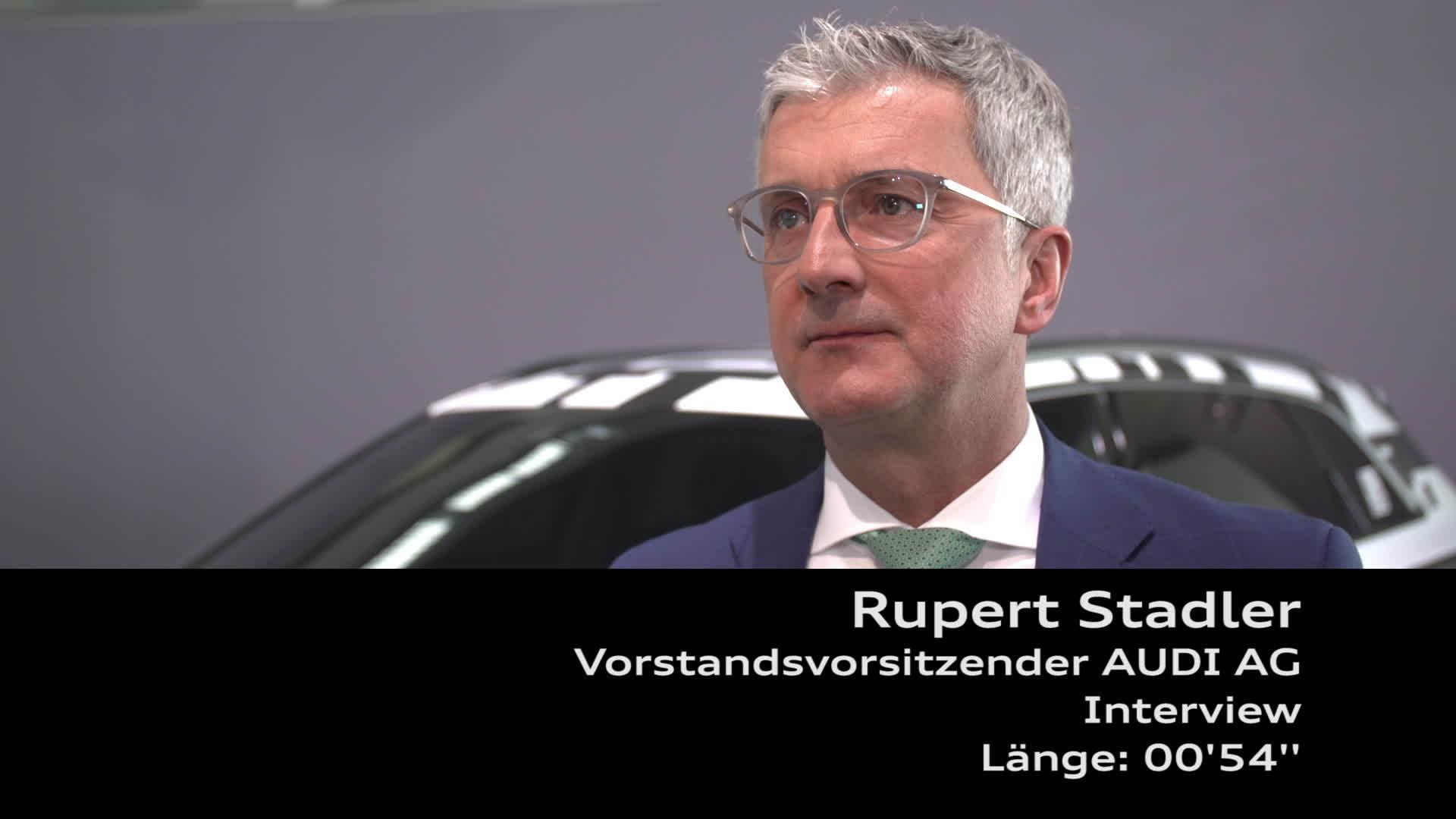 Audi Jahrespressekonferenz 2018 Interview Rupert Stadler