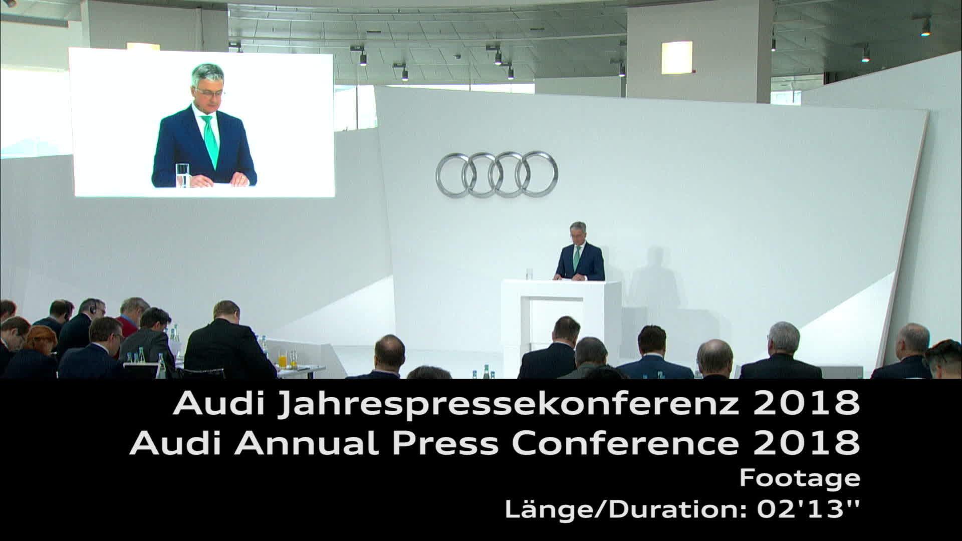 Audi Jahrespressekonferenz 2018 Footage
