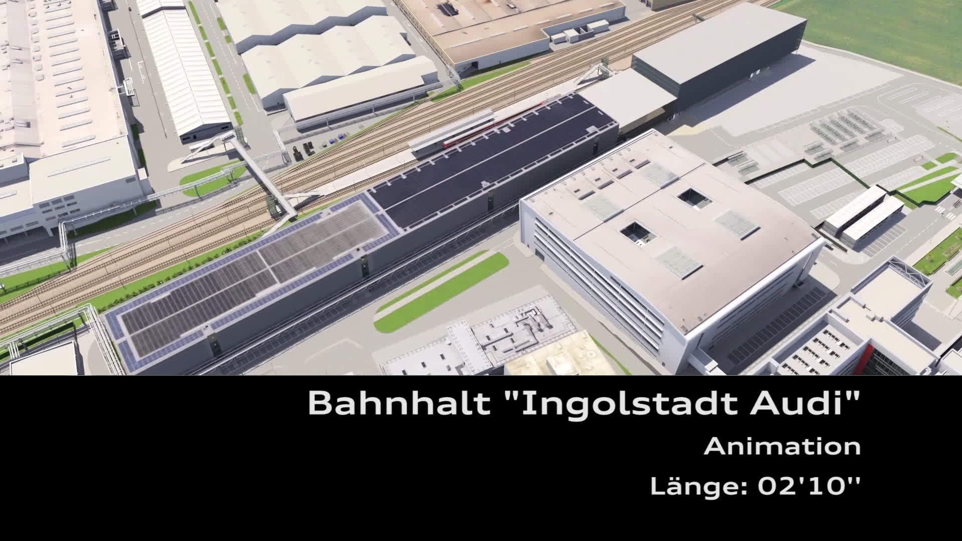 Bahnhalt Ingolstadt Audi Animation