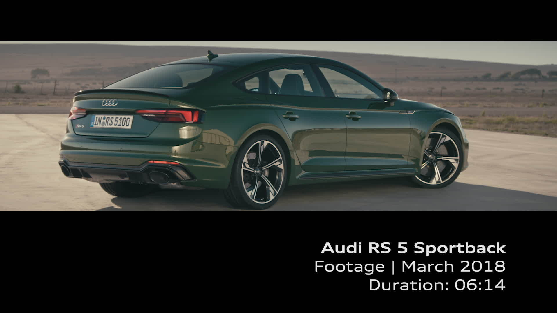 Footage RS 5 Sportback US Version