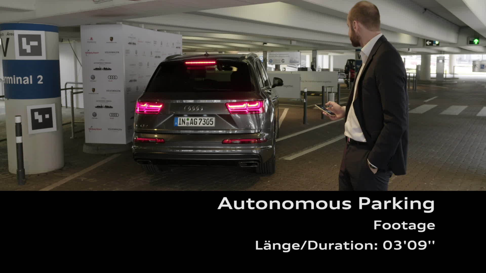 Footage Autonomous parking at Hamburg Airport
