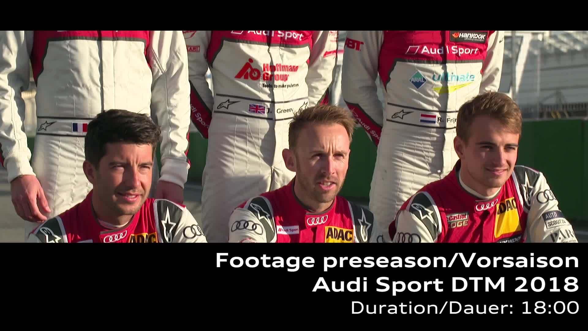 Audi Sport DTM 2018 Footage preseason