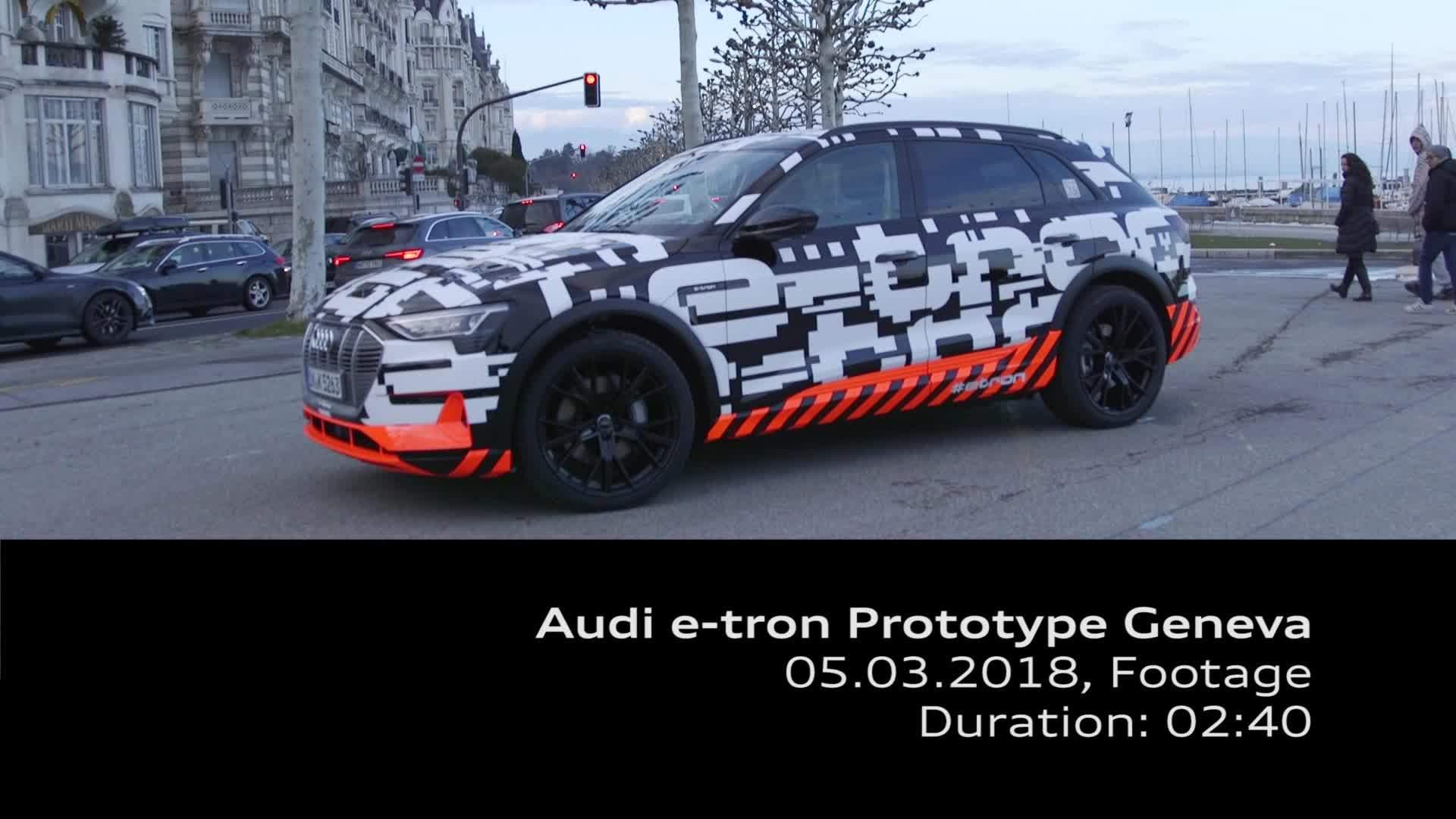 Footage Audi e-tron prototype