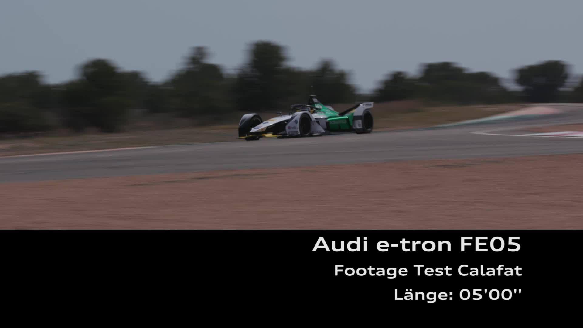 Audi testet den Audi e-tron FE05 für die Formel E
