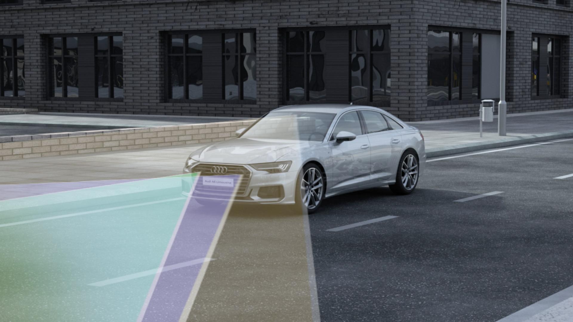 Animation Audi A6 48V mild hybrid system