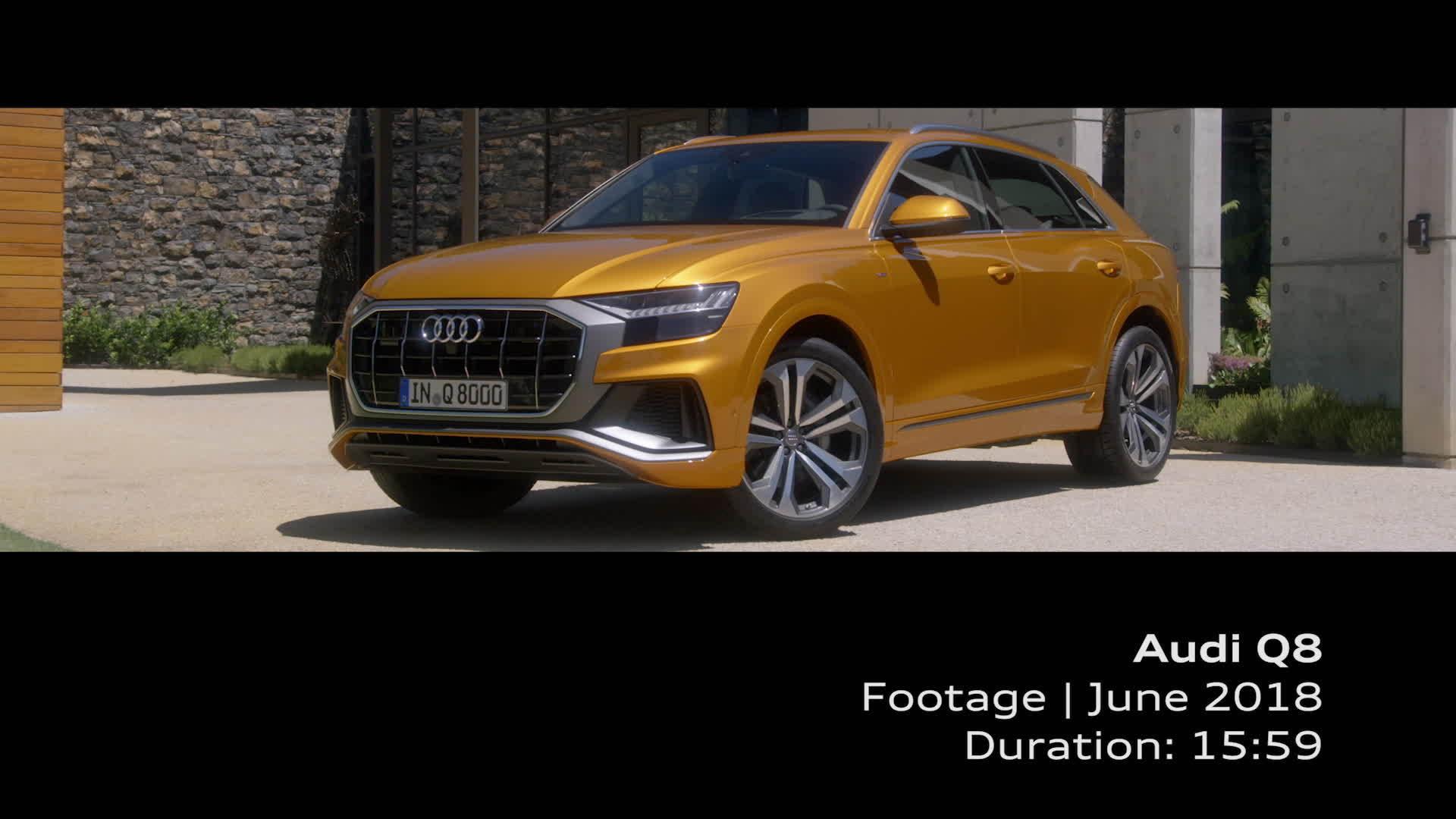 Audi Q8 Footage