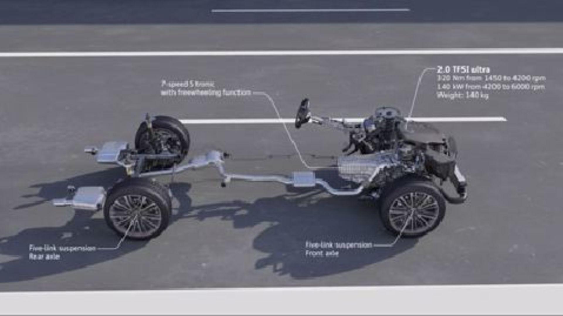 Audi A4 2.0 TFSI ultra (2015) - Animation