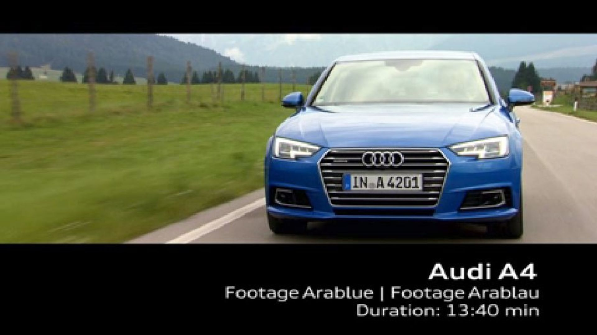 Audi A4 (2015) - Footage on Location