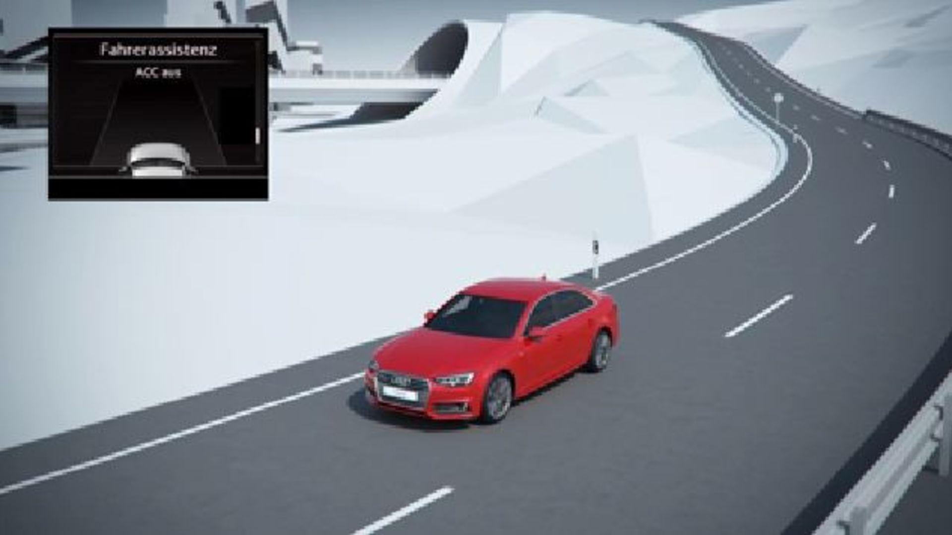 Audi A4 (2015) - Animation Prädiktiver Effizienzassistent