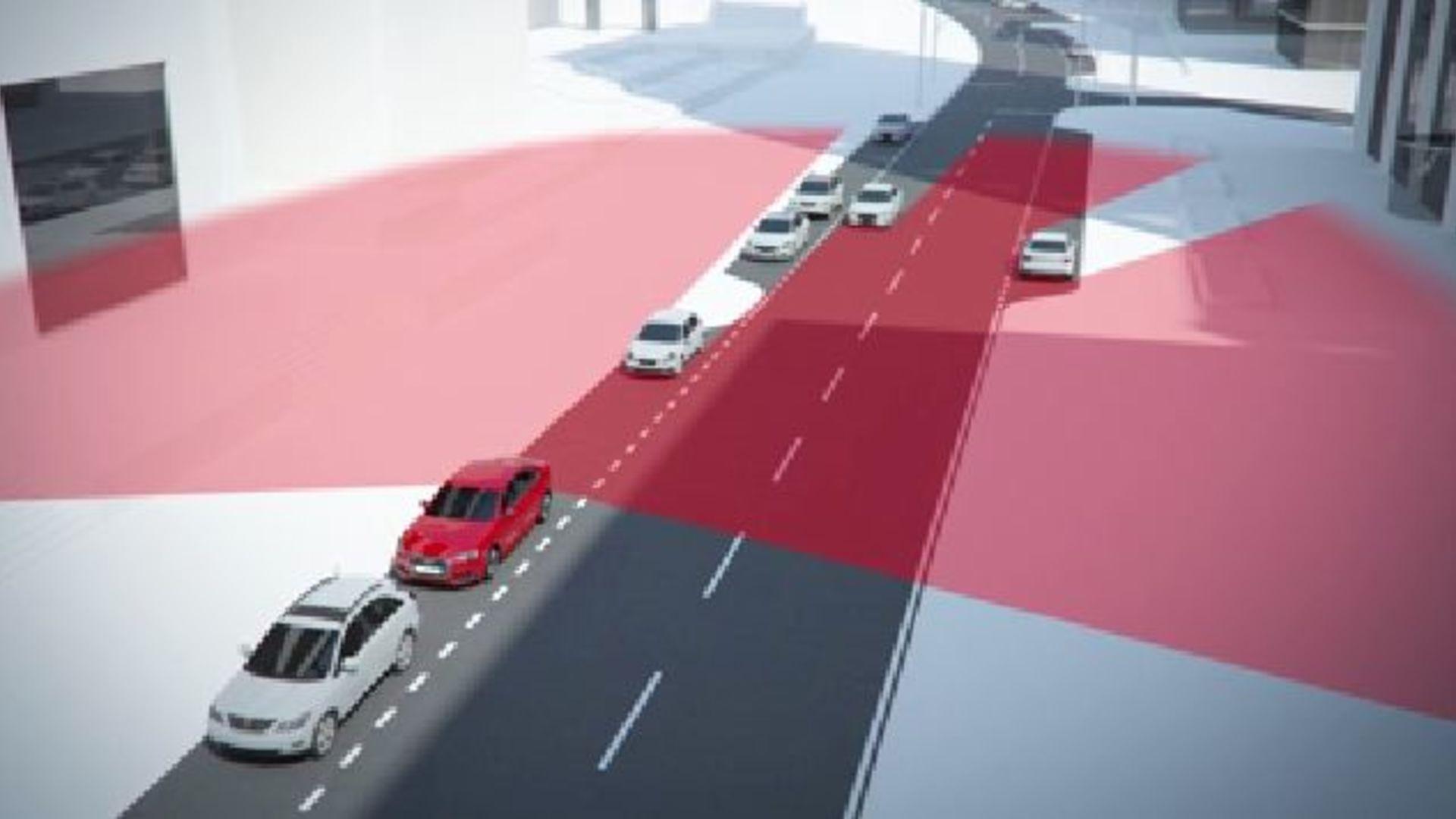 Audi A4 (2015) - Animation Ausstiegwarnung