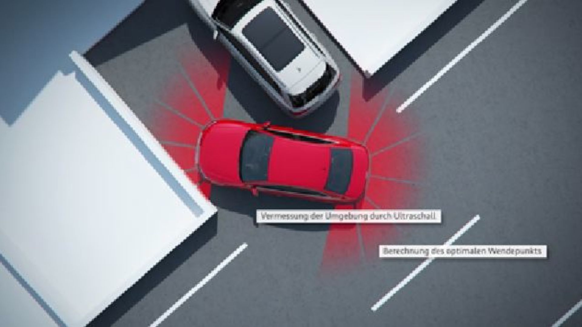 Audi A4 (2015) - Animation Parkassistent