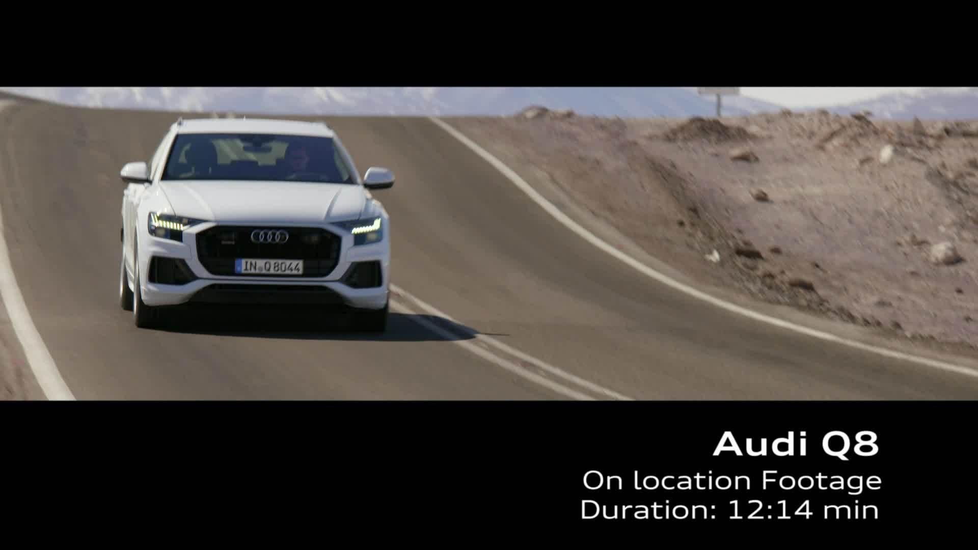 Audi Q8 Footage Chile Gletscherweiß