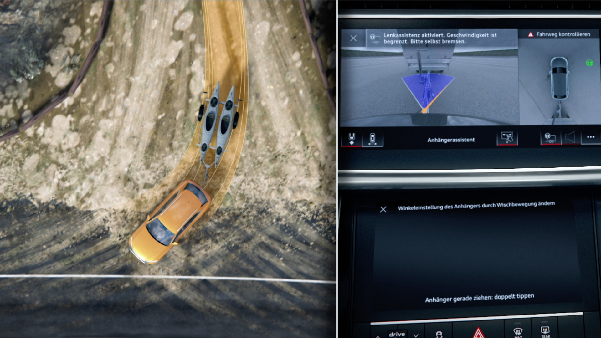 Animation Audi Q8 Trailer assist