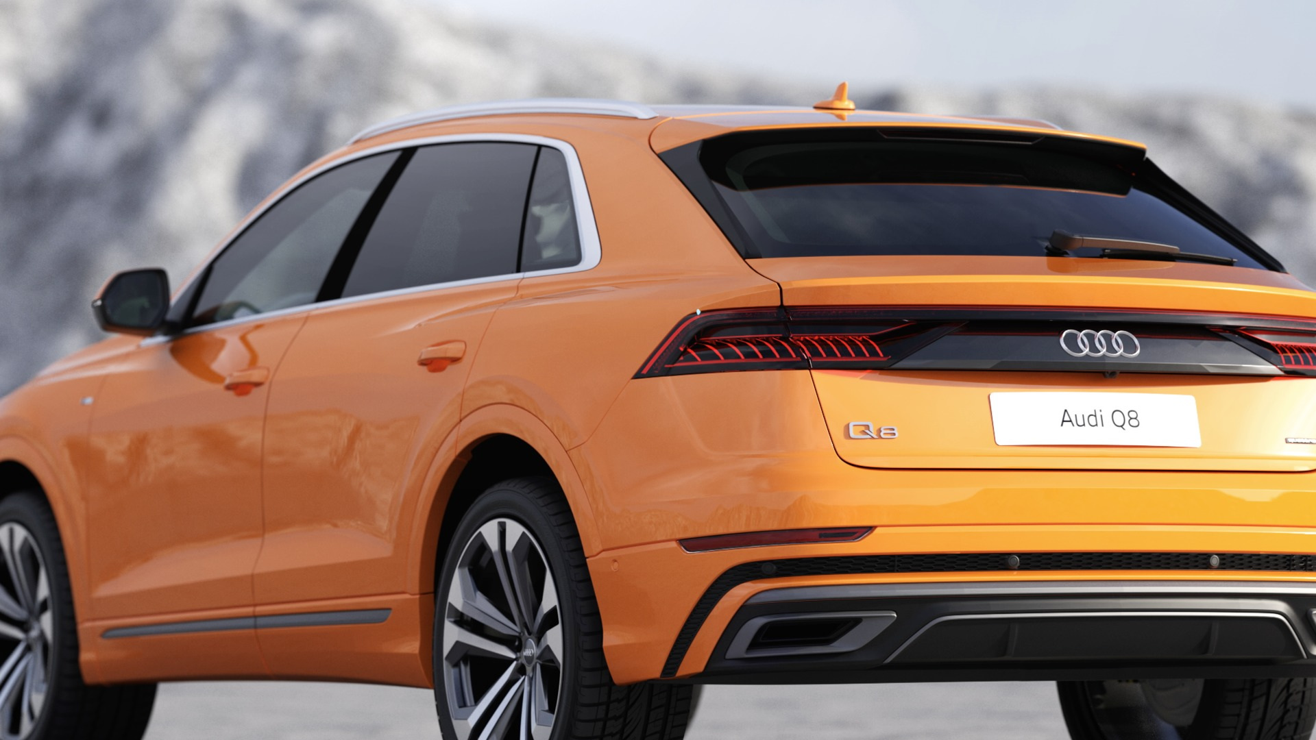 Animation Audi Q8 exterior design
