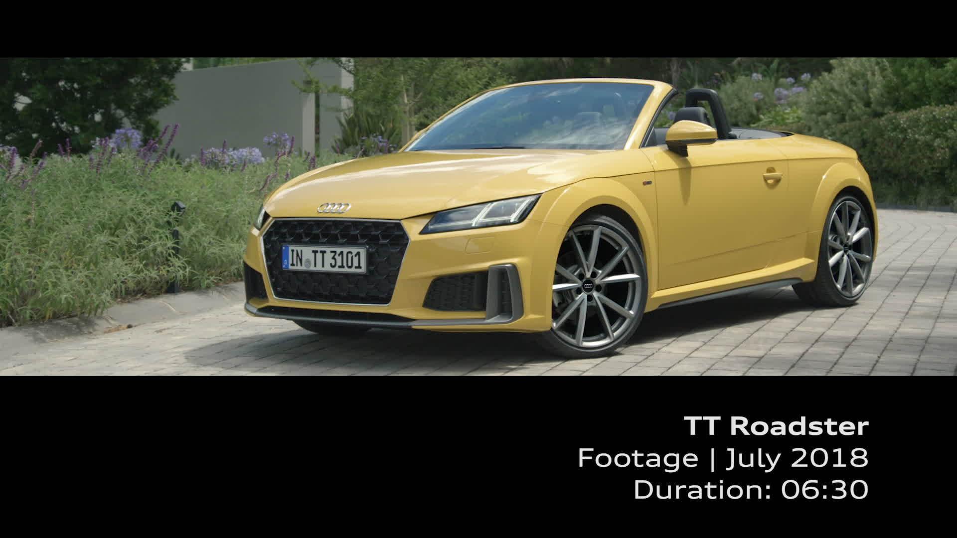 Audi TT Roadster Footage