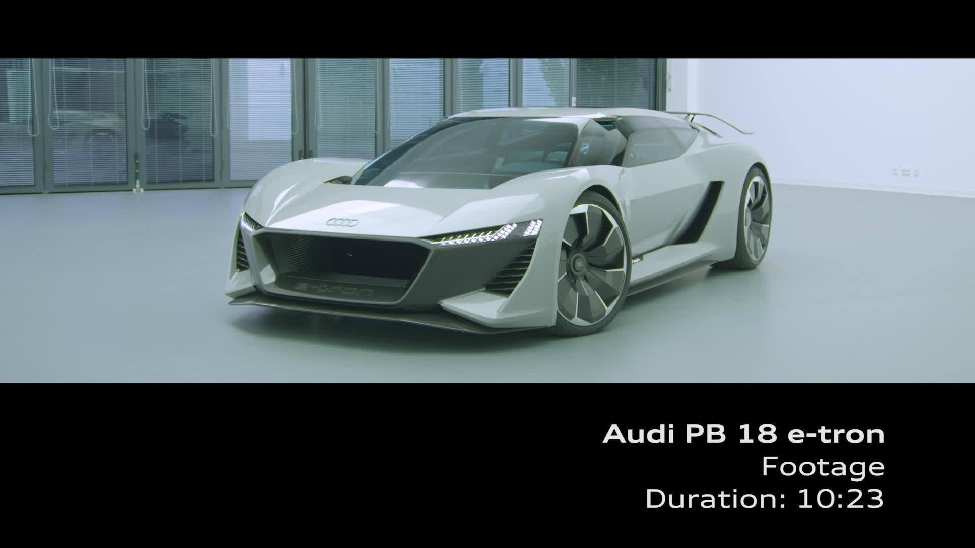 Studie Audi PB18 e-tron Footage