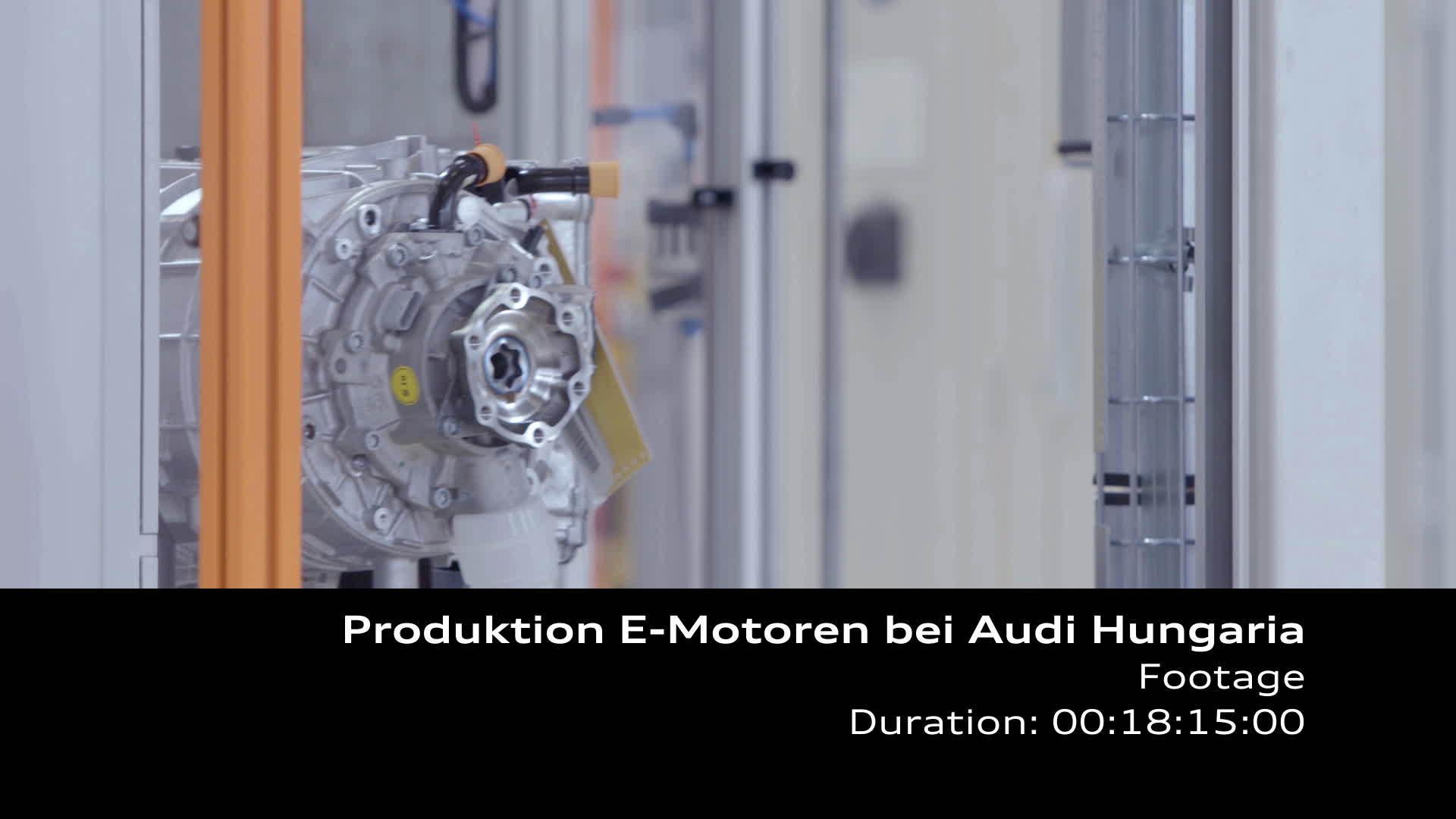 Audi Hungaria startet Serienproduktion von Elektromotoren