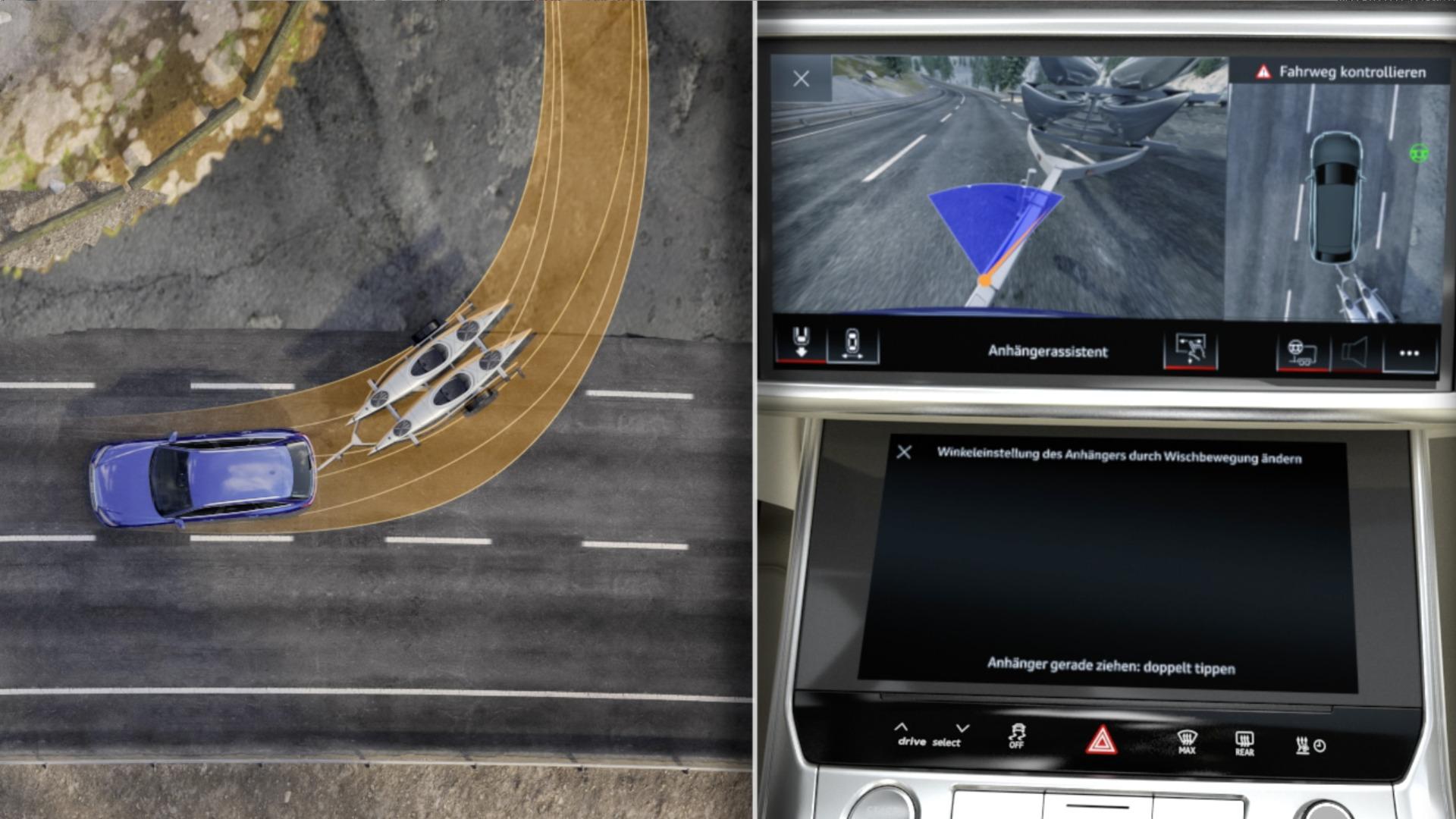Audi A6 Avant Animation Anhängerassistent