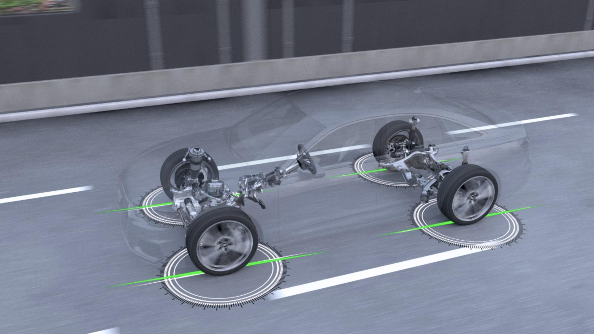 Animation Audi A6 Dynamik-Allradlenkung