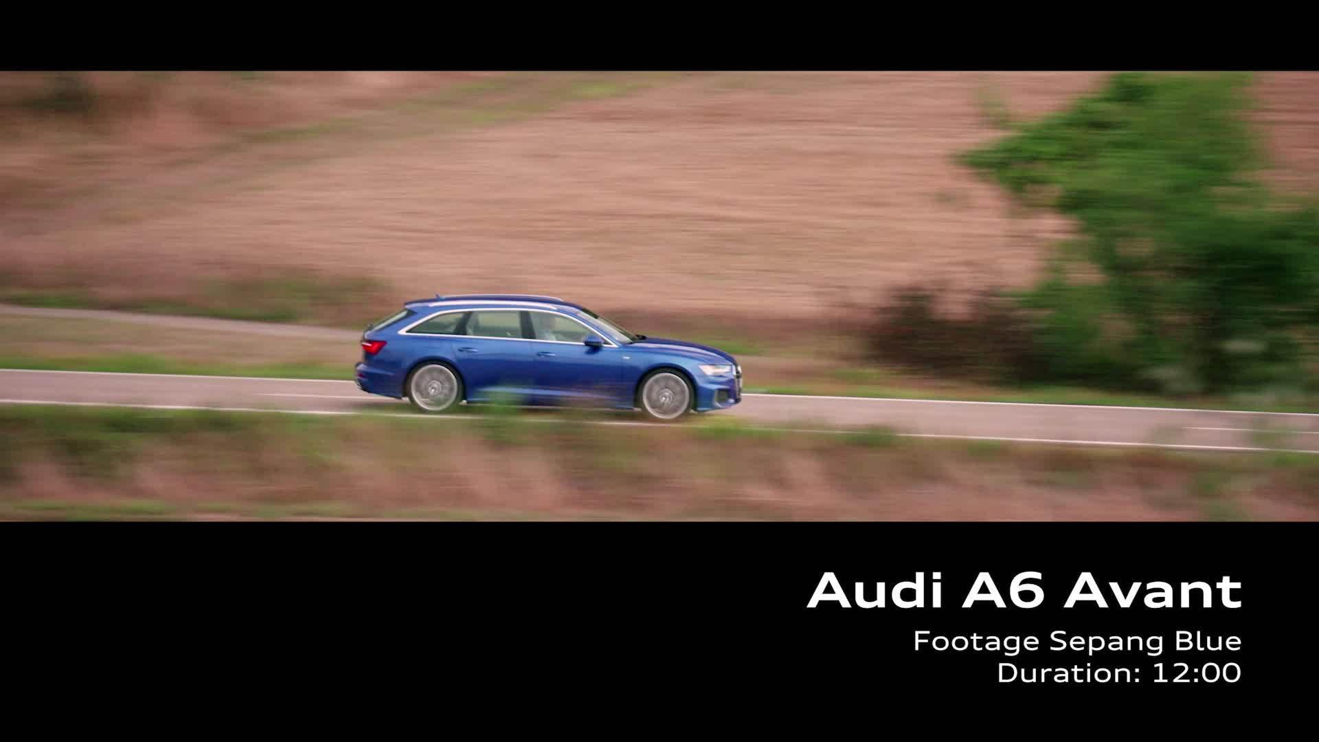 Audi A6 Avant – on Location Footage Sepang Blue